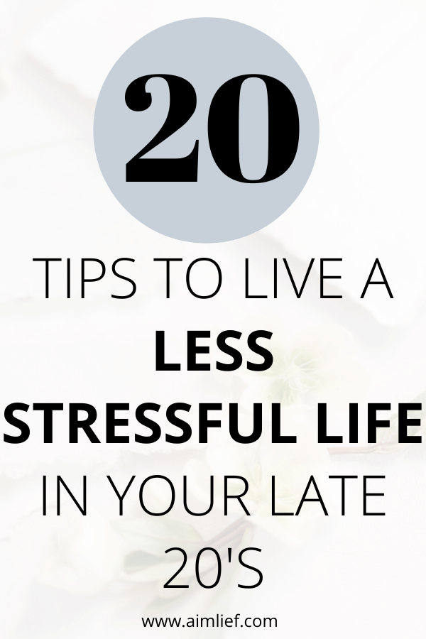 less stressful life