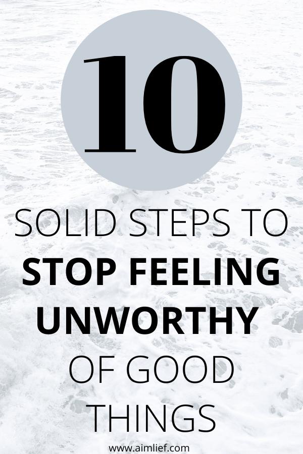 feel undeserving