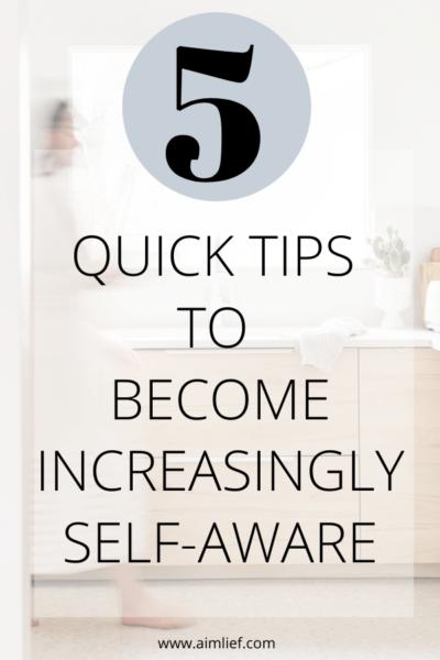 become more self aware