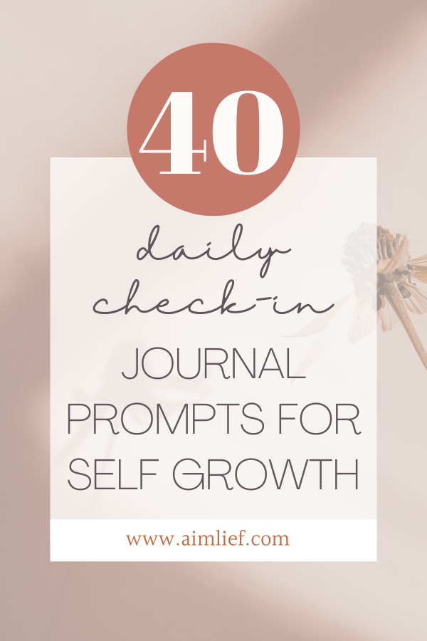 Daily check-in journal prompts